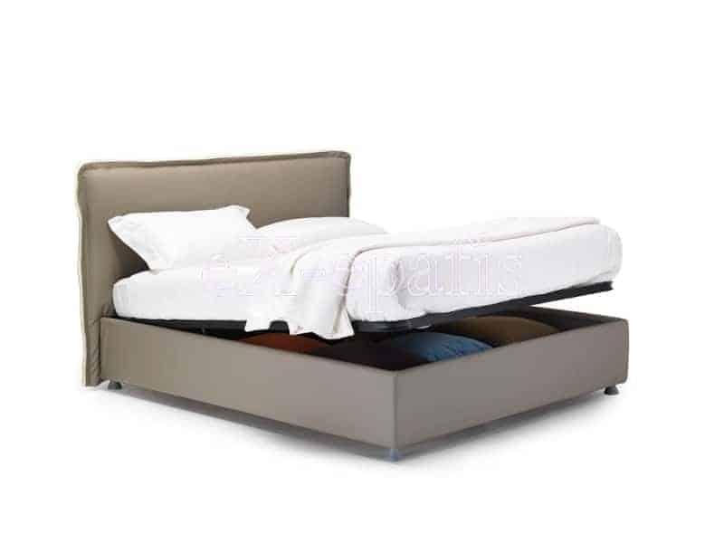 κρεβάτι διπλό με αποθηκευτικό χώρο giove noctis (2)