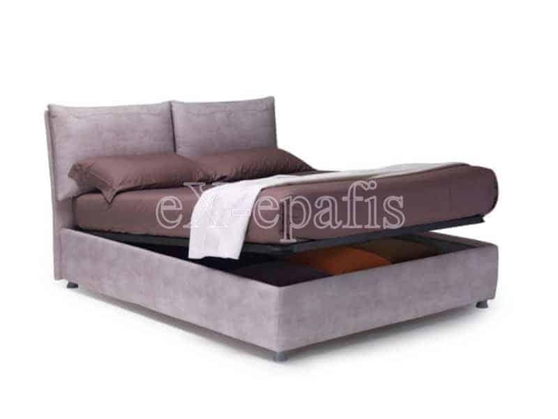 κρεβάτι διπλό με αποθηκευτικό χώρο luna noctis (2)