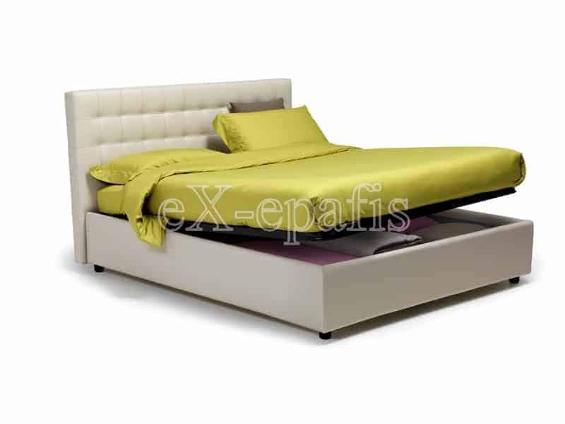 κρεβάτι διπλό με αποθηκευτικό χώρο venere noctis (2)