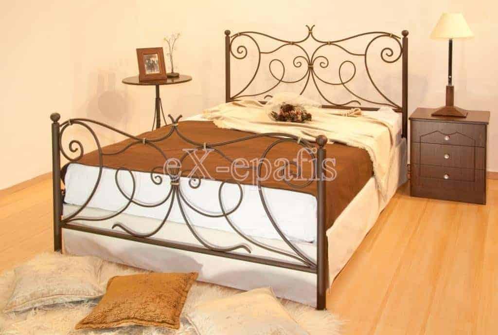 μεταλλικό κρεβάτι αθηνά 129