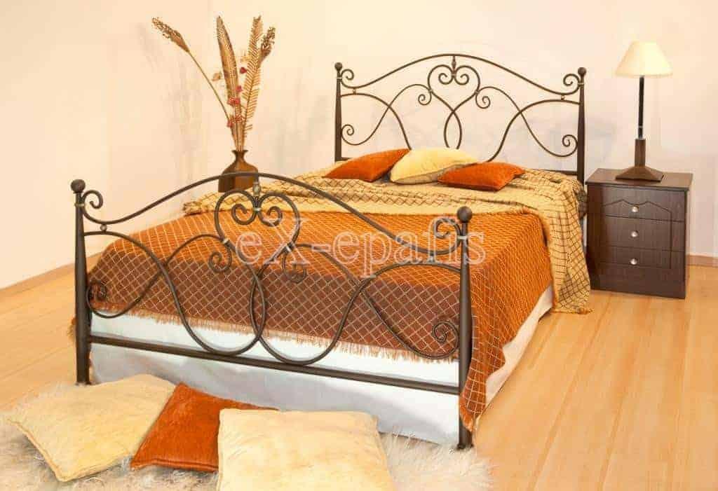 μεταλλικό κρεβάτι Αριάδνη 130