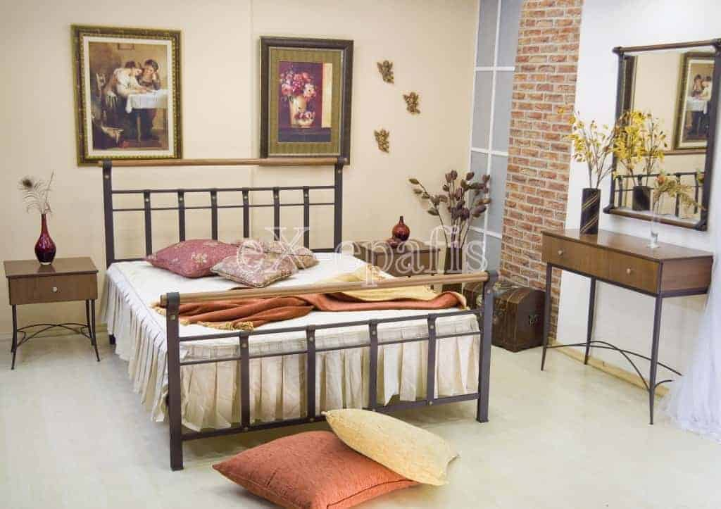 μεταλλικό κρεβάτι ευτέρπη 107