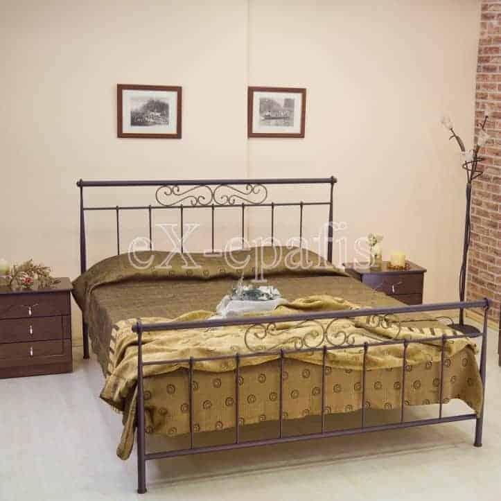 Μεταλλικό Κρεβάτι Μελπομένη - Χειροποίητο