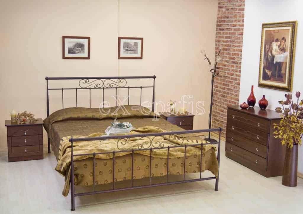 μεταλλικό κρεβάτι μελπομένη 114
