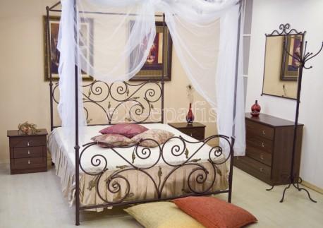 μεταλλικό κρεβάτι ουρανία με ουρανό 116sky