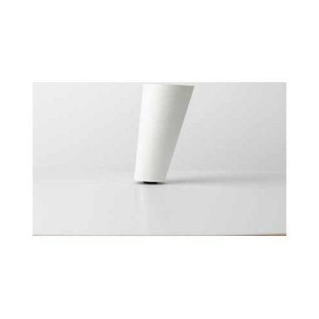 Λοξό Αλουμινίου Πόδι Noctis Λευκό 11cm