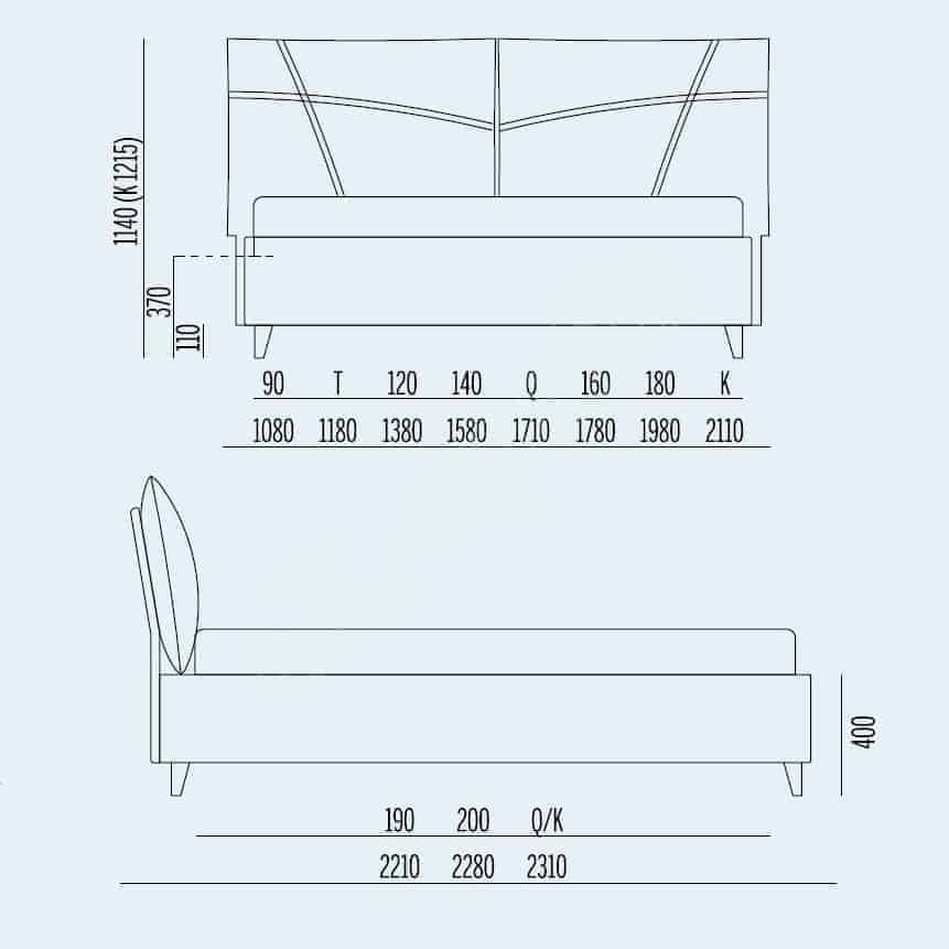 Κρεβάτι So Casual Noctis - Διαστάσεις