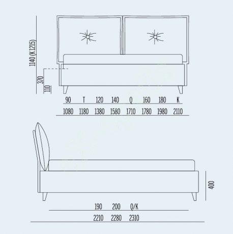 Κρεβάτι So Libely Noctis - Διαστάσεις