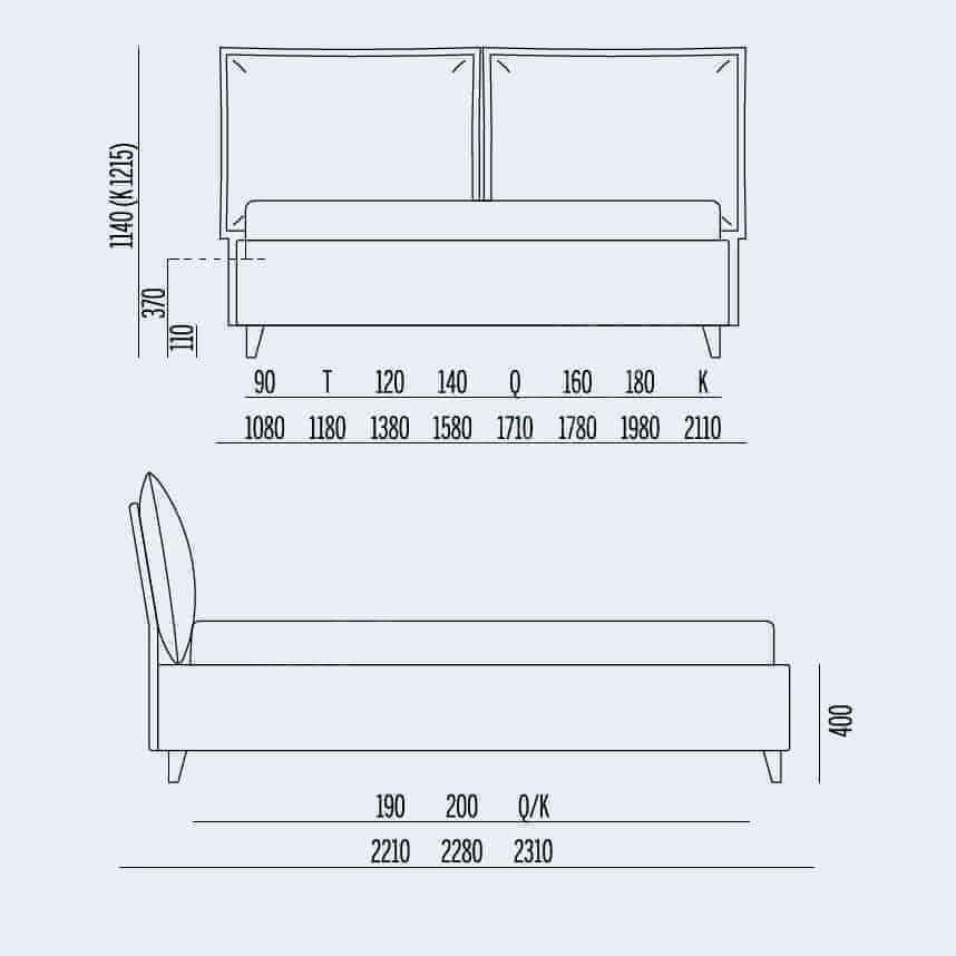 Κρεβάτι So Pop Noctis - Διαστάσεις