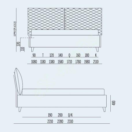 Κρεβάτι So Regular Noctis - Διαστάσεις