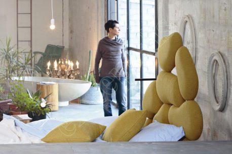 Κρεβάτι Stones Noctis - Κεφαλάρι από Πέτρες