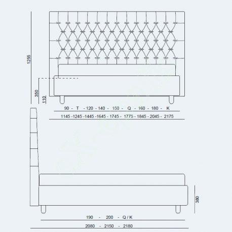 Κρεβάτι Dizzy High Project Noctis - Διαστάσεις