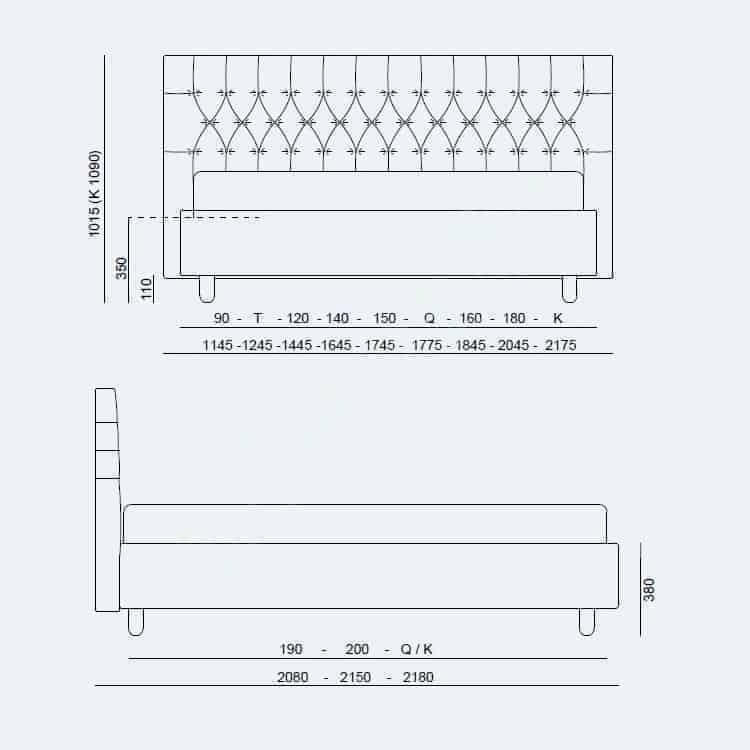 Κρεβάτι Dizzy Project Noctis - Διαστάσεις