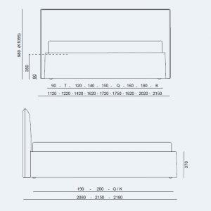 Κρεβάτι Me Project Noctis - Διαστάσεις
