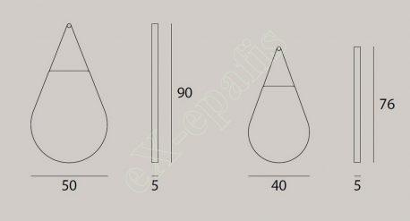 Καθρέπτες Σταγόνες Target Point - Διαστάσεις