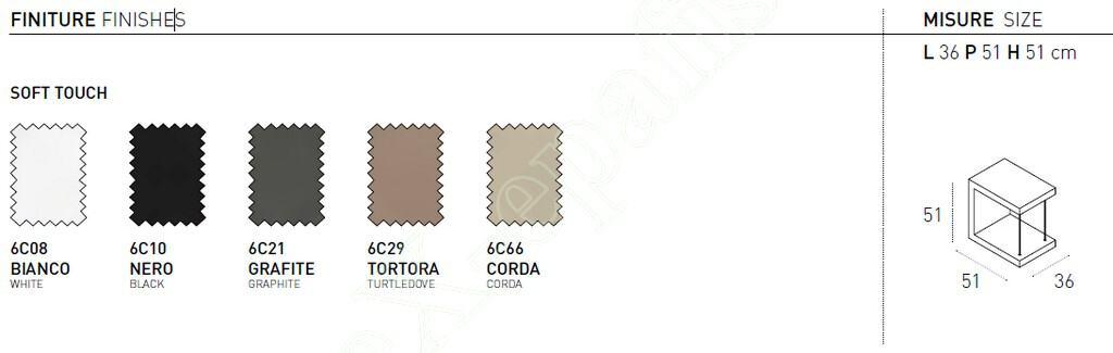 Κομοδίνο Leo Target Point - Χρώματα & Διαστάσεις