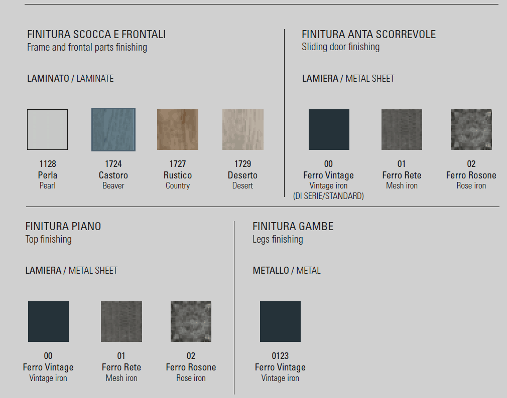 Μπουφές Modus Target Point - Χρώματα