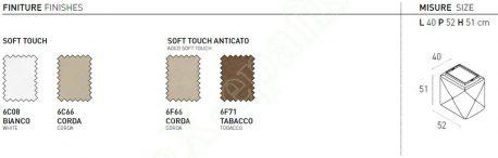 Πουφ Ludovic Target Point - Χρώματα & Διαστάσεις