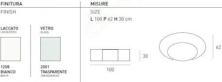 Τραπεζάκι Σαλονιού Ciclope Target Point - Χρώματα & Διαστάσεις