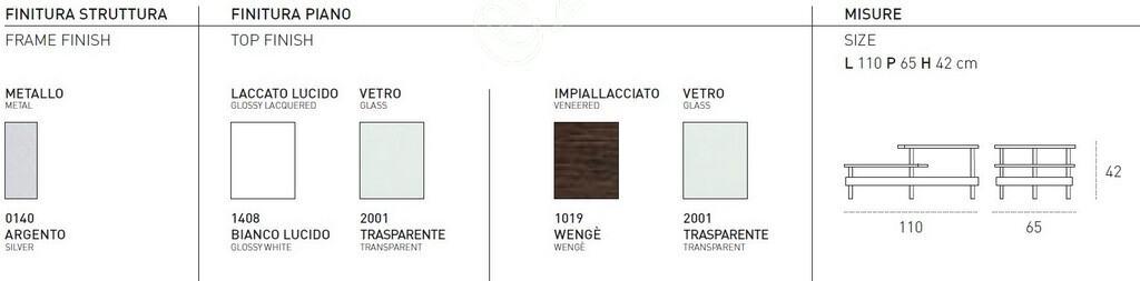 Τραπεζάκι Σαλονιού Idra Target Point - Χρώματα & Διαστάσεις