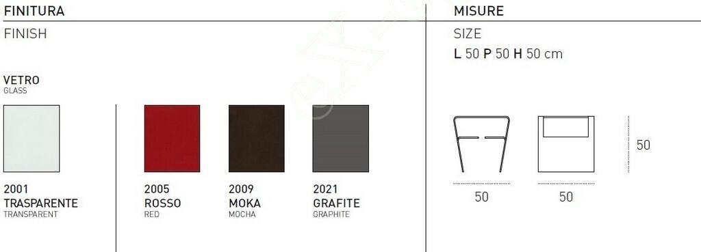 Τραπεζάκι Σαλονιού Proteo Target Point - Χρώματα & Διαστάσεις