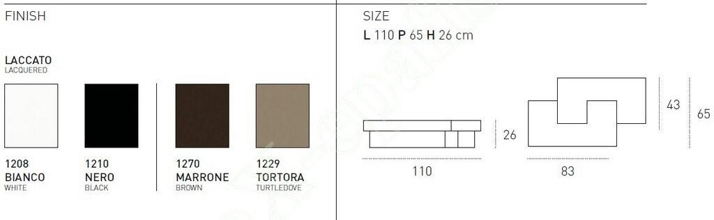 Τραπεζάκι Σαλονιού Tetris Target Point - Διαστάσεις & Χρώματα