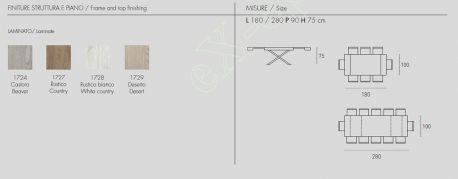 Τραπέζι Asterion Target Point - Χρώματα & Διαστάσεις