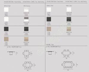 Τραπέζι Copernico Target Point - Χρώματα & Διαστάσεις