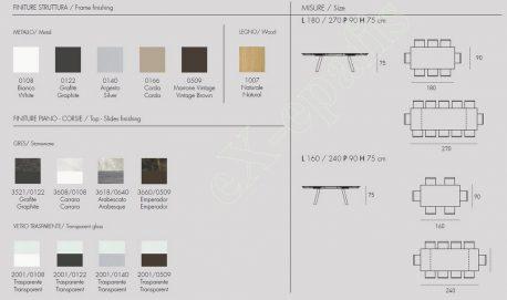 Τραπέζι Giove Target Point - Χρώματα & Διαστάσεις