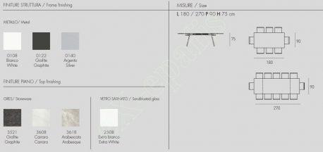 Τραπέζι Hercules Target Point - Διαστάσεις & Χρώματα