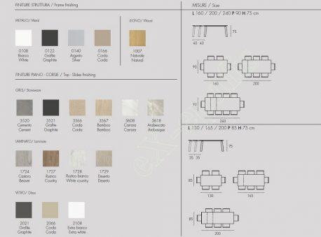 Τραπέζι Κουζίνας Deimos Target Point - Χρώματα & Διαστάσεις