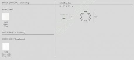 Τραπέζι Κουζίνας Flute Target Point - Χρώματα & Διαστάσεις