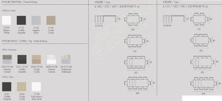 Τραπέζι Κουζίνας Sole Target Point - Χρώματα & Διαστάσεις