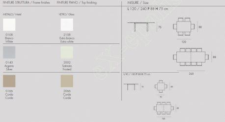 Τραπέζι Κουζίνας Vega Target Point - Χρώματα & Διαστάσεις