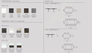 Τραπέζι Libeccio Target Point - Χρώματα & Διαστάσεις