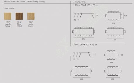 Τραπέζι Maciste Target Point - Χρώματα & Διαστάσεις