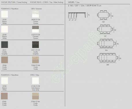Τραπέζι Magellano Target Point - Χρώματα & Διαστάσεις