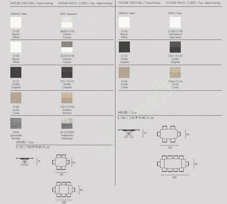 Τραπέζι Poseidone Target Point - Χρώματα & Διαστάσεις