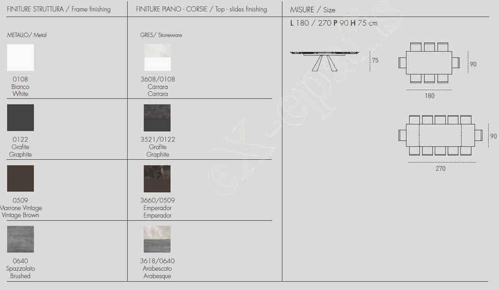 Τραπέζι Taurus Target Point - Χρώματα & Διαστάσεις