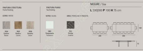 Τραπέζι Totem Target Point - Χρώματα & Διαστάσεις