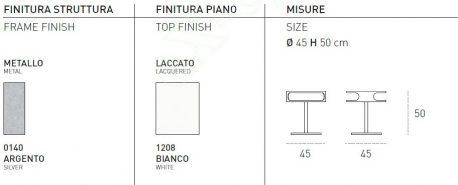 Τραπεζάκι Σαλονιού Tapao Target Point - Χρώματα & Διαστάσεις