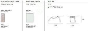 Τραπεζάκι Σαλονιού Vertigo Target Point - Χρώματα & Διαστάσεις
