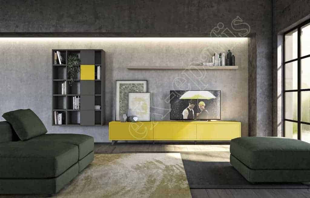 Wall Unit Living Room Colombini Golf L106