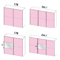 Wardrobe Sliding Doors Target Colombini HT 214-1