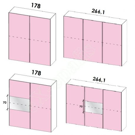 Wardrobe Sliding Doors Target Colombini HT 249-1