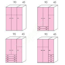 Wardrobe Volo Colombini 3Phyllh-135 1