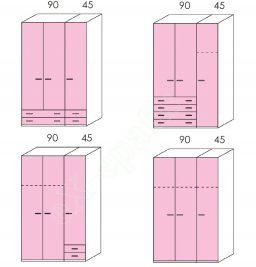 Wardrobe Volo Colombini 3Phyllh-135 2