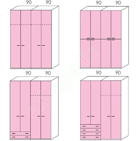 Wardrobe Volo Colombini 4Phyllh-180 1