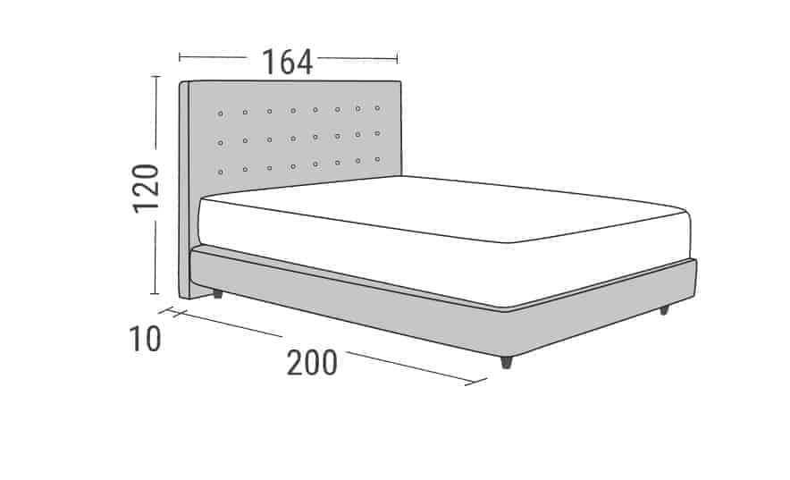 9a103127e2d Κρεβάτι Chester Linea Strom | eX-epafis Έπιπλο