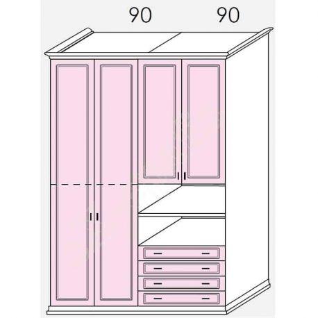 Wardrobe Arcadia Colombini R30.68T